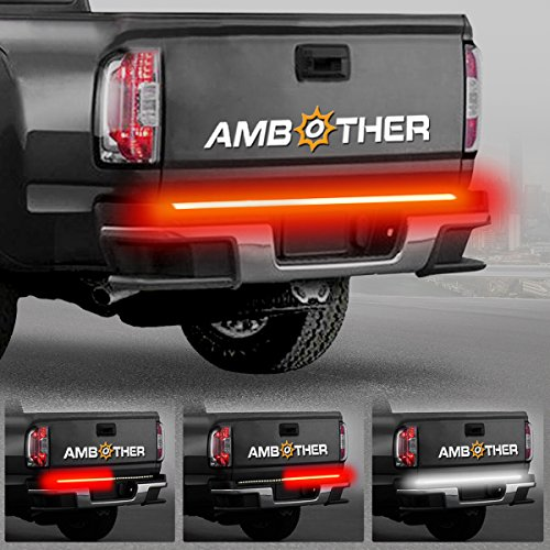 "AMBOTHER 5-Function 48""/49"" Truck Tailgate Side Bed Light Strip Bar 3528-72LED Waterproof IP67, Turn Signal, Parking, Brake, Reverse Lights for Pickup SUV Jeep RV Van Dodge Ram Chevy GMC Red/White"