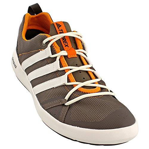 adidas Outdoor Men's Terrex Climacool Boat Water Shoe, Cargo Brown/Chalk White/Umber, 11 M US (Adidas Water Slides)