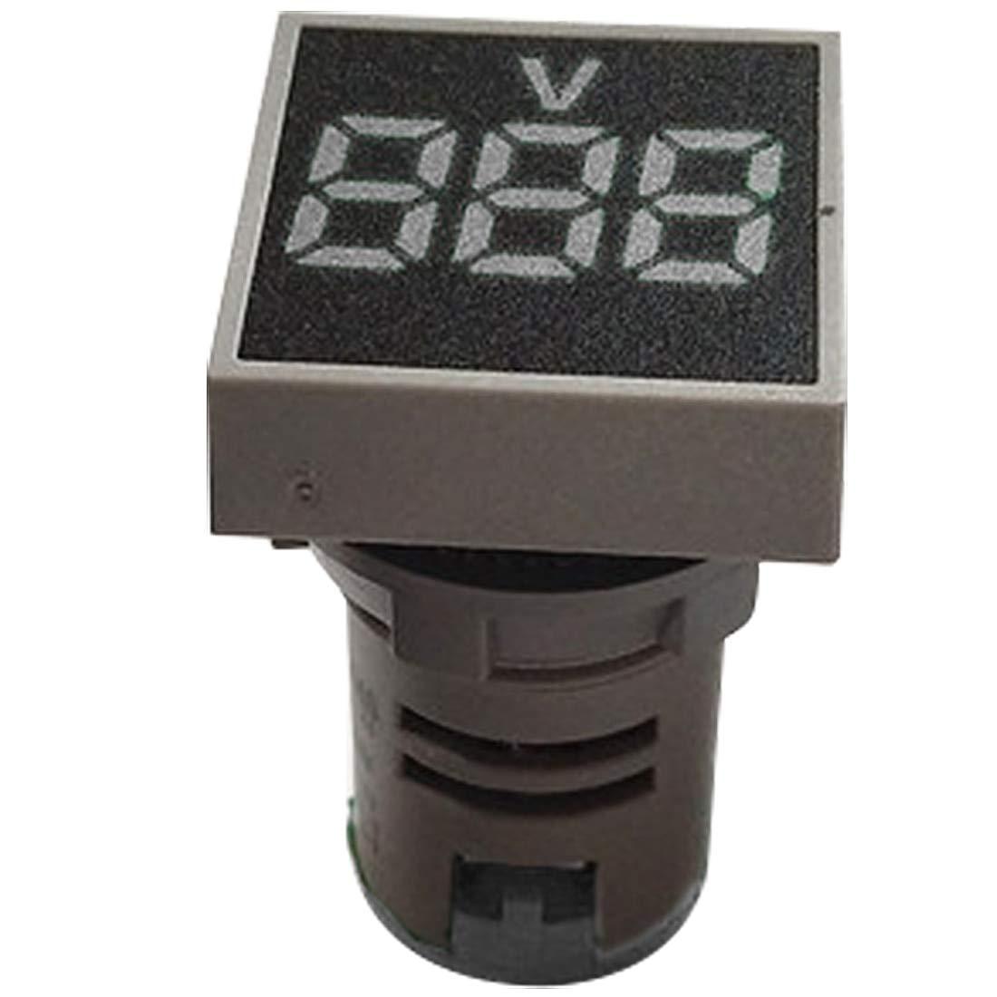 Voltm/ètre Panneau Carr/é Mini LED Tension Num/érique Compteur AC 12-500V Num/érique Voltm/ètre 22MM