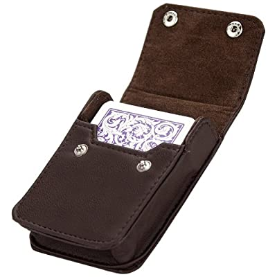 Brybelly Single Deck Leather Card Case: Sports & Outdoors