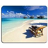 img - for Tropical Paradise Sunshine Beach Coast Sea Palm Trees Mousepad,Custom Oblong Shaped Mouse Pad -MP2872 book / textbook / text book
