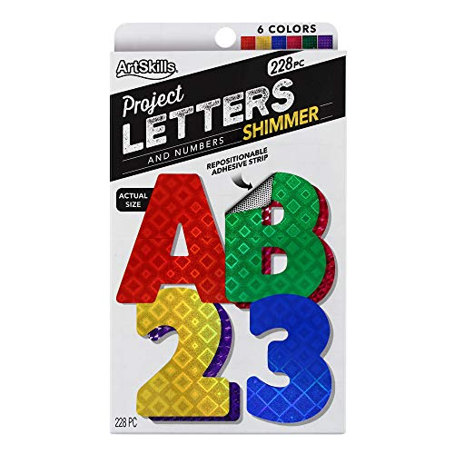 "ArtSkills 2.5"" Poster Letters and Numbers, A-Z and 0-9, Assorted, Holographic Colors, 228-Count (PA-1444)"