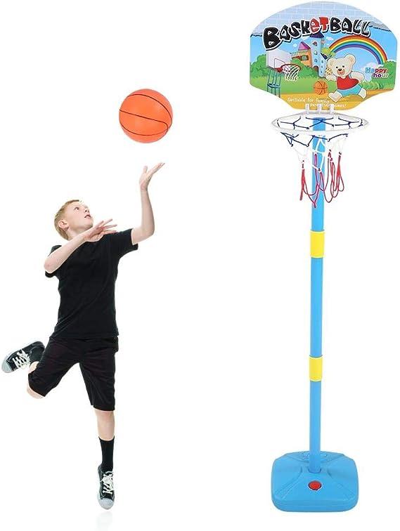 Kinderen plastic basketbalstandaardset, in hoogte