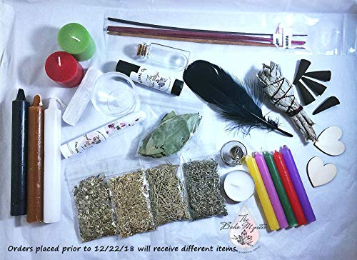 Beginner sample Witch Kit, Witchcraft supplies, Witchcraft for beginners, witchcraft candles, spell candles, wicca supplies, herb starter kit, wiccan altar supplies, witchcraft herbs