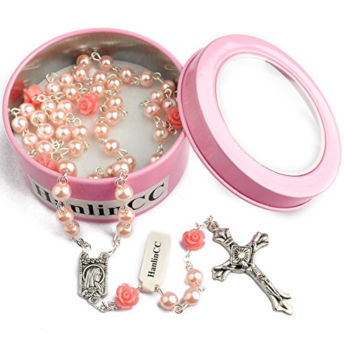 Hedi Pink Color Holy Rosary with Lourdes ()