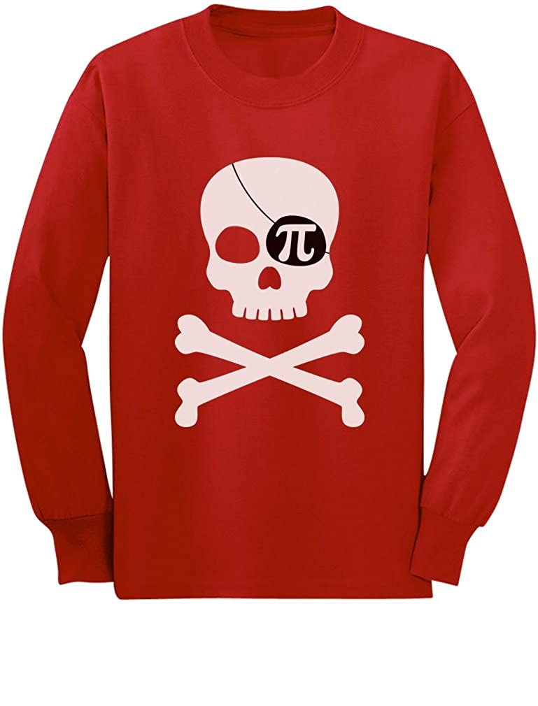 Pi-Rate Funny Pirate Skull /& Crossbones Toddler//Kids Long Sleeve T-Shirt