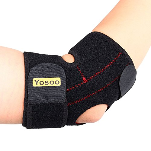 Yosoo Adjustable Neoprene Tennis Golfers Elbow Brace Wrap Arm Support Strap Band - Arm Warmers With Straps