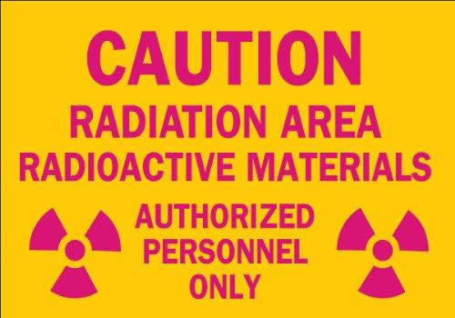 Brady 25282 Plastic Radiation & Laser Sign, 7