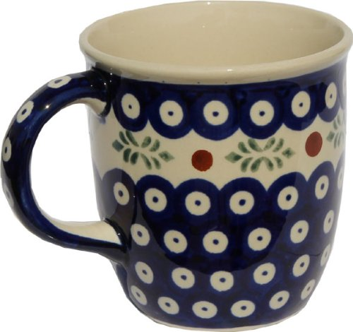 (Polish Pottery Mug 12 Oz. From Zaklady Ceramiczne Boleslawiec 1105-242 Classic Pattern, Capacity: 12 Oz.)