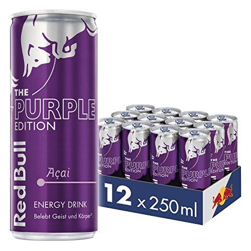 Red Bull Energy Drink Acai-Beere Dosen Getränke Purple Edition 12er Palette, EINWEG (12 x 250 ml)