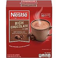 Nestle Hot Chocolate Mix, Hot Cocoa, Rich Chocolate Flavor, Hecho con Real Cocoa, Paquetes de 0.71 oz (paquete de 50)