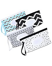 Wet Tissue Bag Refillable Baby Wipe Container Portable Reusable Travel Wet Wipe Pouch 4PCS Organization and Storage
