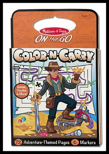 Activity Book - On The Go - Color-N-Carry ORANGE