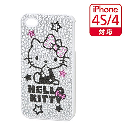 ハローキティアイフォンiPhone4/4sケースカバージャケット ラインストーン 白 希少 コレクターズアイテム