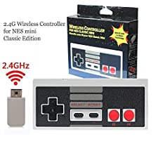 Wireless Controller for NES Mini Classic - Perfectmall Wireless Plug and Play Gaming Controller Gamepad for NES Classic Edition System Games Console (2017