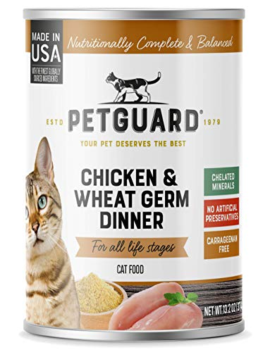 PetGuard Chicken & Wheat Germ Wet Cat Food, 13.2-oz, Case of 12