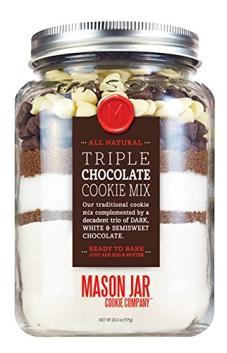 The Mason Jar Cookie Company Triple Chocolate chip Cookie Mix in a Soft Jar Pouch