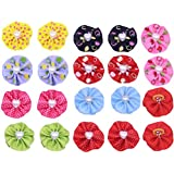 Yagopet 60pcs/30pairs Dog Hair Bows With Rubber Bands Round Bows with Love Pearls Center Dog Topknot Dog Bows Pet Dog Grooming Bows Pet Supplies Dog Hair Accessories