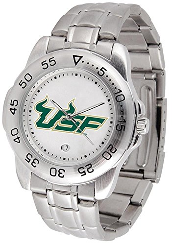 NCAA South Florida Bulls Men's Gameday Sport Watch with Stainless Steel Band Ncaa Sport Game Day Watch