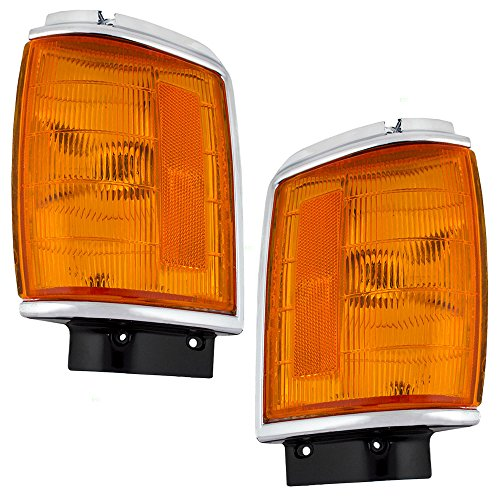 Park Signal Corner Marker Lights Lamps with ChromeTrim Replacement for Toyota Pickup Truck SUV 8162089168 8161089168 ()