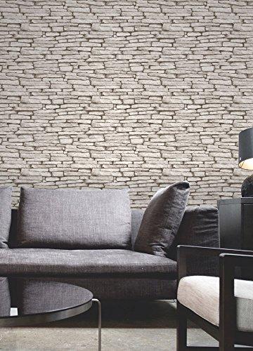 Fine Decor Luxury Distinctive 10M Wallpaper Roll - White Cream Slate Fd31292
