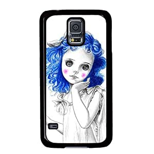 S5 case,Samsung Galaxy S5 case,Fashion Durable Black Side design for Samsung Galaxy S5,PC material Phone Cover,Designed Specially Pattern with Coraline