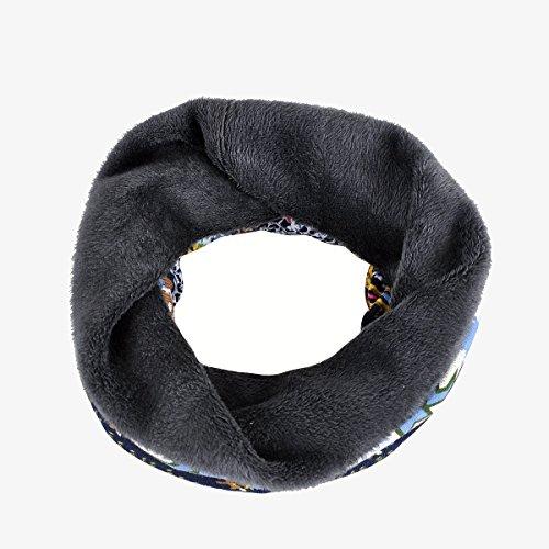terciopelo Gorro con tubular de azul para mujer forro oscuro Acvip 0wa0T6q