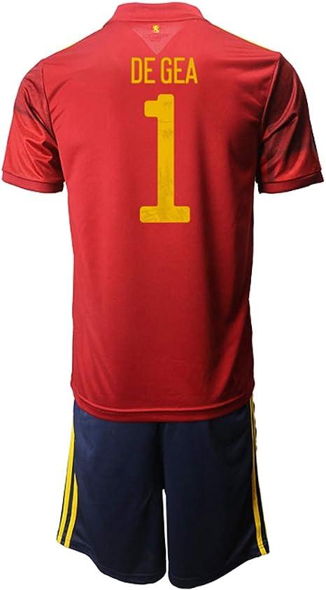 OZP Camiseta De Fútbol Soccer Jersey Short Sleeve David_De_GEA_ Red España Jersey 2 Sets Camisetas y Pantalones Cortos para Hombres/Mujeres/jóvenes: Amazon.es: Deportes y aire libre
