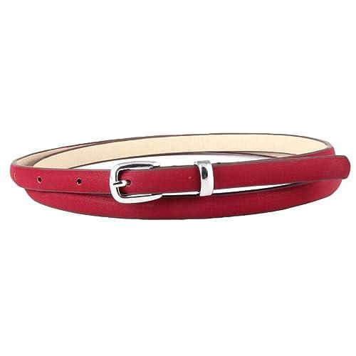 Lumeidon Mujer Aguja Hebilla Moda Salvaje Cinturon De Cintura Colores Del Caramelo Fino Cinturones D...