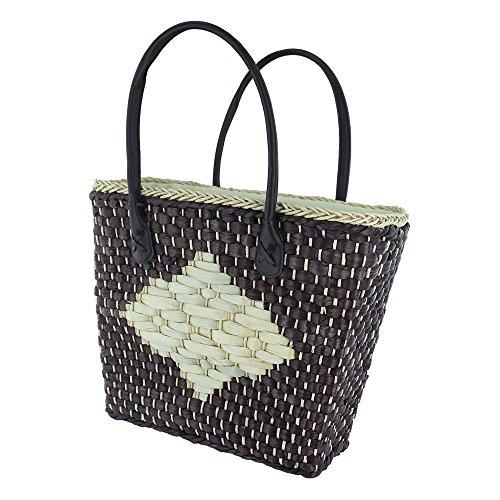 Korbtasche aus Naturfasern, Farbe:Braun