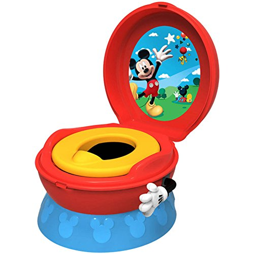 The First Years Disney Baby Mickey Mouse 3-in-1 Potty Training Chair with (Celebration Elongated Bowl)