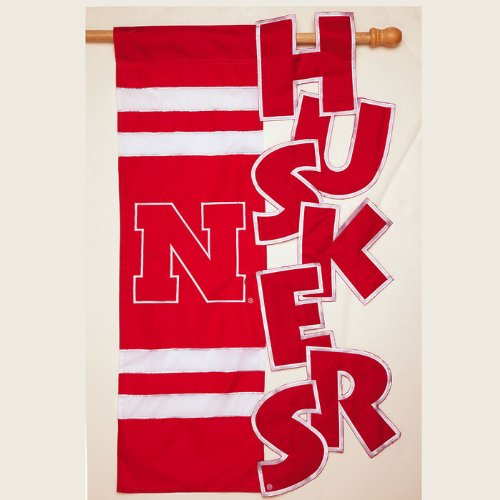 Sculpted House Flag--University of Nebraska