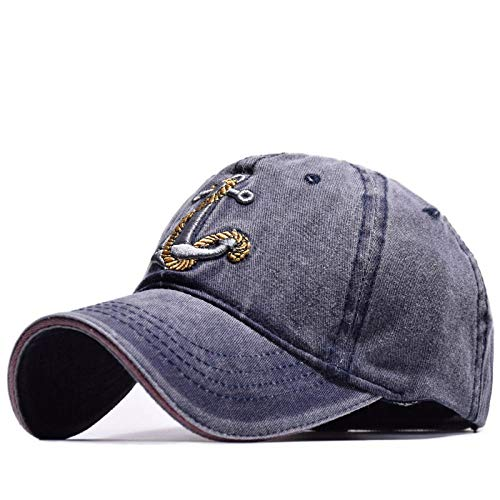 New Vintage Style Baseball Cap Old Pirate Ship Anchor Embroidery Snapback Caps Navy Adjustable ()