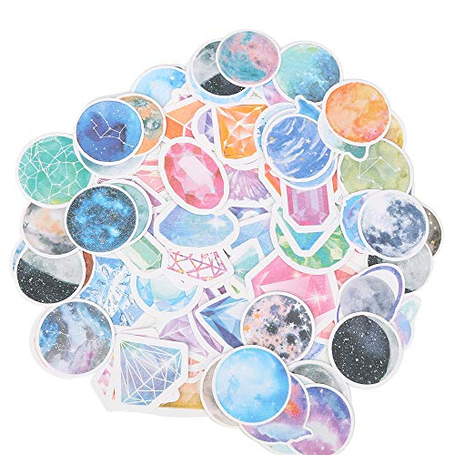 Molshine 100pcs Variety Stickers-Brilliant Planet Series Decals for Personalize Laptops, Skateboards, Luggage, Cars, Bumpers, Bikes, Bicycles,Books,Sealing Sticker,DIY-2packs