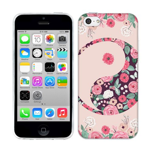 Head Case Designs Floral Blooms Yin and Yang Collection Soft Gel Back Case Cover for Apple iPhone 5c