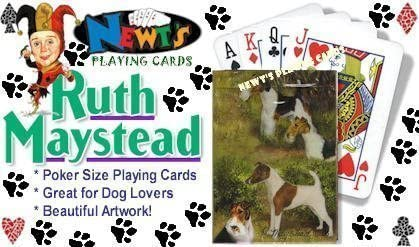 New Fox Terriers Dog Poker Playing Card Set Deck of Cards Ruth Maystead Terrier