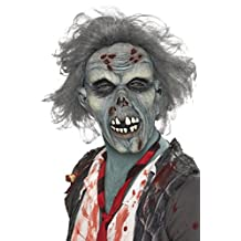 Smiffy's Men's Decaying Zombie Mask with Hair, Multi, One Size
