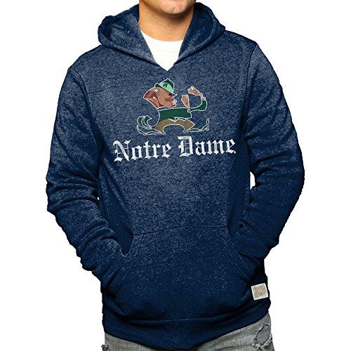 Notre Dame Fighting Irish Retro Hoodie Sweatshirt Navy - XXL