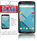 TruShield [2-PACK] Motorola Google Nexus 6 Screen Protector - Package Includes Microfiber Cleaning Wipe and 2x Tempered Glass Screen Protectors