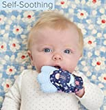 Baby Teething Mitten | Self-Soothing Baby Teething Relief | BPA FREE Silicone Teething Mitten for Babies | Sensory Crinkle Toy with Adjustable Strap | Teething Mittens for Babies 3-12 mo (Pink)