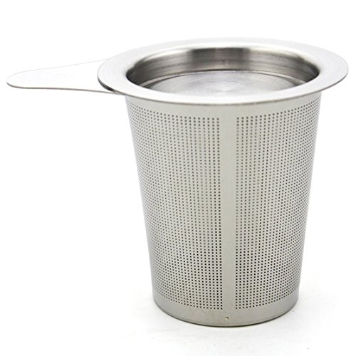 Zicome Stainless Steel Tea Infuser Strainer, Fine Mesh, Tea Filter with Lid