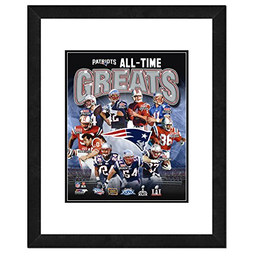 Celebrates New England Patriots Framed - NFL New England Patriots Men's All Time Greats Framed Photo, One Size, Multicolor