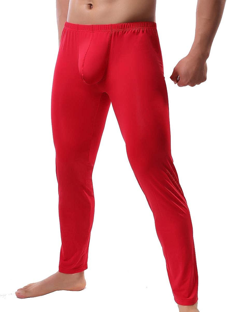 YUFEIDA Men's Sexy Underwear Bottoms Low Rise Leggings Pants Mesh Long Trousers
