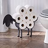 Sheep Toilet Paper Roll Holder - Metal Wall Mounted