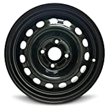 Road Ready Car Wheel For 2012-2017 Hyundai Accent 14 Inch 4 Lug Black Steel Rim Fits R14 Tire - Exact OEM Replacement - Full-Size Spare