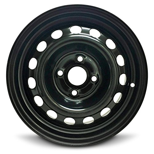 Road Ready Car Wheel For 2012-2017 Hyundai Accent 14 Inch 4 Lug Black Steel Rim Fits R14 Tire - Exact OEM Replacement - Full-Size Spare ()