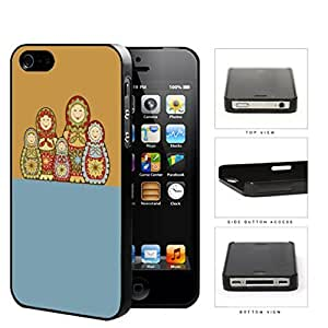 Russian Nesting Dolls Blue And Orange 2-Piece Dual Layer High Impact Rubber Silicone Cell Phone Case Samsung Galaxy S4 SIV I9500