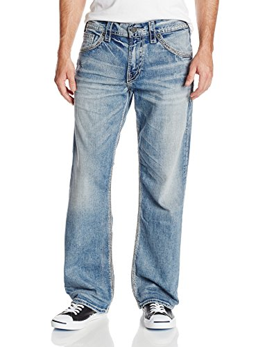 Mens Loose Blue Jeans - 4