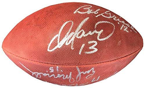 Miami Dolphins Quarterbacks Autographed Official NFL Football (Miami Dolphins Best Quarterback)