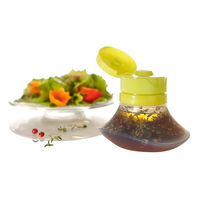 Mini botella de salsa tipo Squeeze Ensalada de silicona Aderezo Tarros de salsa Para Ketchup Mayonesa Accesorios de lonchera (verde): Amazon.es: Hogar